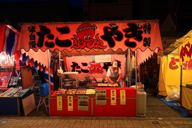 お祭りの夜店「たこ焼き屋」