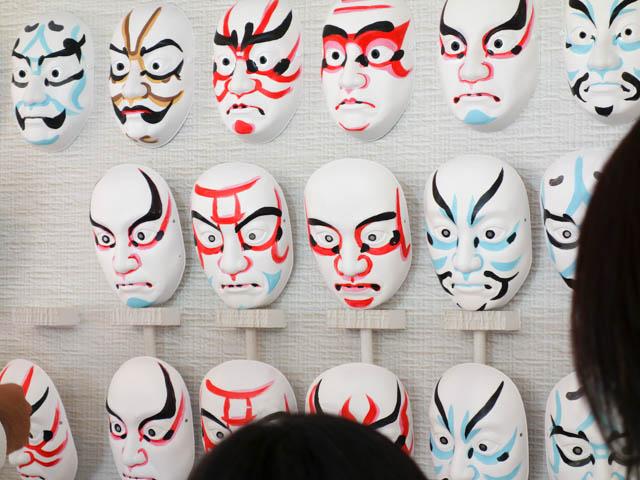 歌舞伎(かぶき)役者に変身できる?体験コーナー