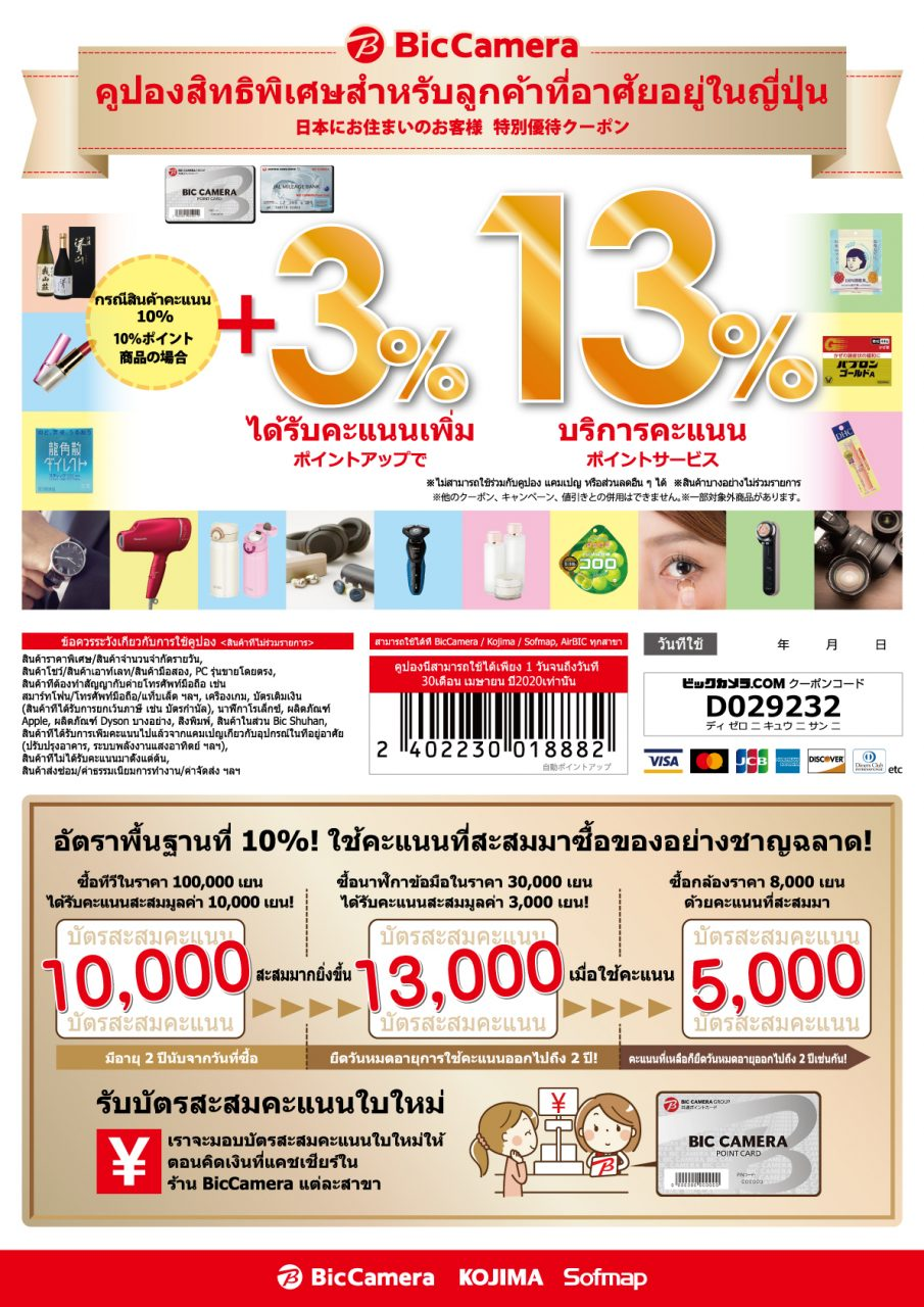 6592_【LSC】在日タイ人向けポイントアップクーポン_200%